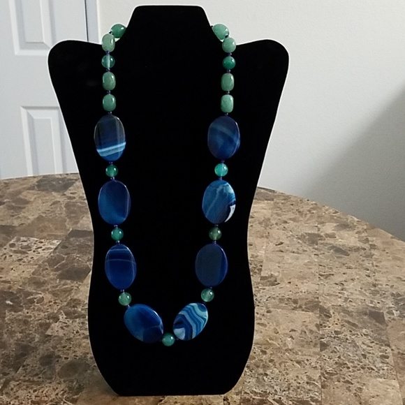 Jewelry - Blue & Green Bead Necklace